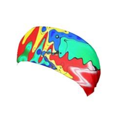 Bright Colours Abstract Yoga Headband