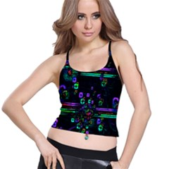 Digital Painting Colorful Colors Light Spaghetti Strap Bra Top