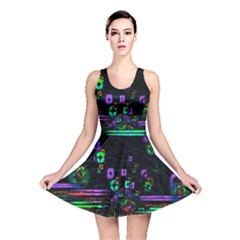 Digital Painting Colorful Colors Light Reversible Skater Dress