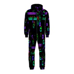 Digital Painting Colorful Colors Light Hooded Jumpsuit (kids)