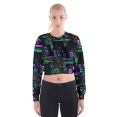 Digital Painting Colorful Colors Light Women s Cropped Sweatshirt