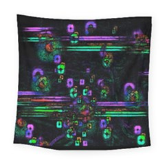 Digital Painting Colorful Colors Light Square Tapestry (large)