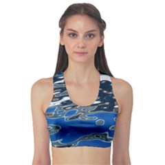 Colorful Reflections In Water Sports Bra