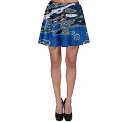 Colorful Reflections In Water Skater Skirt