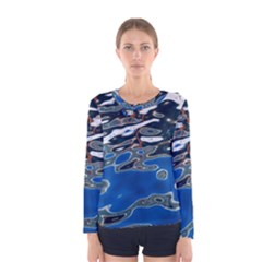 Colorful Reflections In Water Women s Long Sleeve Tee
