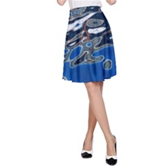 Colorful Reflections In Water A-Line Skirt