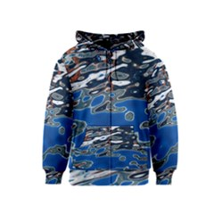 Colorful Reflections In Water Kids  Zipper Hoodie