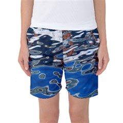 Colorful Reflections In Water Women s Basketball Shorts
