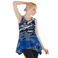 Colorful Reflections In Water Side Drop Tank Tunic