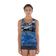Colorful Reflections In Water Women s Sport Tank Top