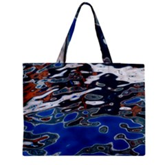 Colorful Reflections In Water Medium Zipper Tote Bag