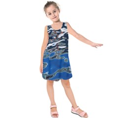 Colorful Reflections In Water Kids  Sleeveless Dress