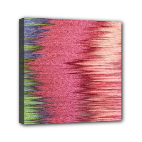 Rectangle Abstract Background In Pink Hues Mini Canvas 6  X 6