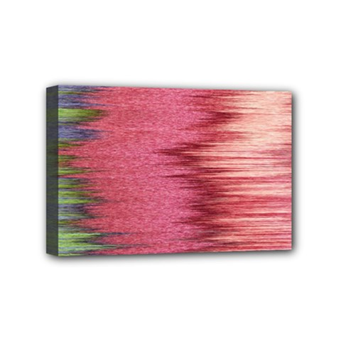 Rectangle Abstract Background In Pink Hues Mini Canvas 6  X 4