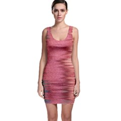 Rectangle Abstract Background In Pink Hues Sleeveless Bodycon Dress
