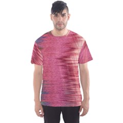 Rectangle Abstract Background In Pink Hues Men s Sport Mesh Tee
