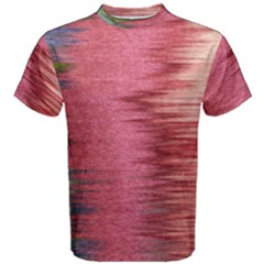 Rectangle Abstract Background In Pink Hues Men s Cotton Tee