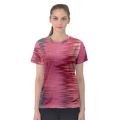 Rectangle Abstract Background In Pink Hues Women s Sport Mesh Tee