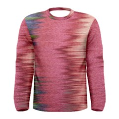 Rectangle Abstract Background In Pink Hues Men s Long Sleeve Tee