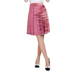 Rectangle Abstract Background In Pink Hues A-Line Skirt