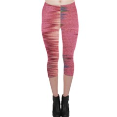 Rectangle Abstract Background In Pink Hues Capri Leggings