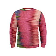 Rectangle Abstract Background In Pink Hues Kids  Sweatshirt