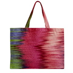 Rectangle Abstract Background In Pink Hues Zipper Mini Tote Bag
