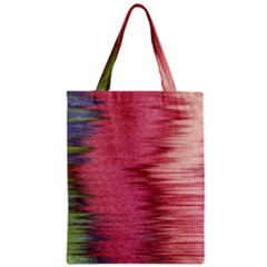 Rectangle Abstract Background In Pink Hues Zipper Classic Tote Bag