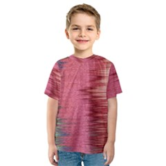 Rectangle Abstract Background In Pink Hues Kids  Sport Mesh Tee