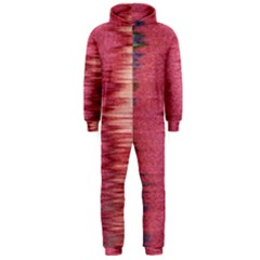 Rectangle Abstract Background In Pink Hues Hooded Jumpsuit (men)