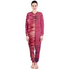 Rectangle Abstract Background In Pink Hues Onepiece Jumpsuit (ladies)