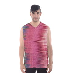 Rectangle Abstract Background In Pink Hues Men s Basketball Tank Top