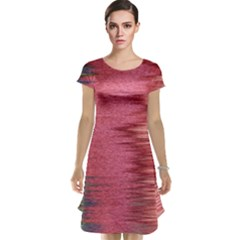 Rectangle Abstract Background In Pink Hues Cap Sleeve Nightdress