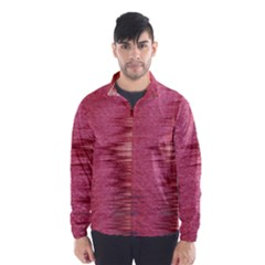 Rectangle Abstract Background In Pink Hues Wind Breaker (men)