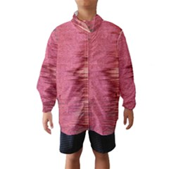 Rectangle Abstract Background In Pink Hues Wind Breaker (kids)