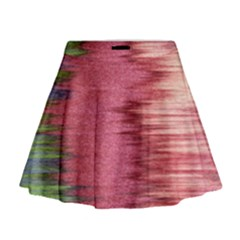 Rectangle Abstract Background In Pink Hues Mini Flare Skirt