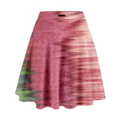 Rectangle Abstract Background In Pink Hues High Waist Skirt