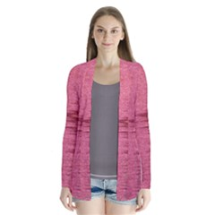Rectangle Abstract Background In Pink Hues Cardigans