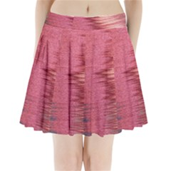 Rectangle Abstract Background In Pink Hues Pleated Mini Skirt