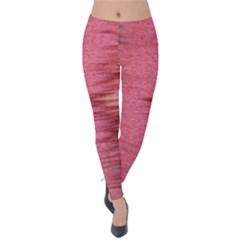 Rectangle Abstract Background In Pink Hues Velvet Leggings