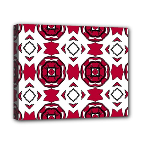 Seamless Abstract Pattern With Red Elements Background Canvas 10  X 8