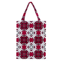 Seamless Abstract Pattern With Red Elements Background Classic Tote Bag