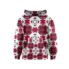 Seamless Abstract Pattern With Red Elements Background Kids  Pullover Hoodie