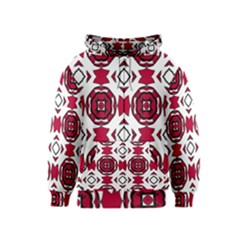 Seamless Abstract Pattern With Red Elements Background Kids  Zipper Hoodie