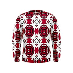 Seamless Abstract Pattern With Red Elements Background Kids  Sweatshirt