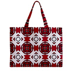 Seamless Abstract Pattern With Red Elements Background Zipper Mini Tote Bag