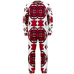 Seamless Abstract Pattern With Red Elements Background Onepiece Jumpsuit (men)