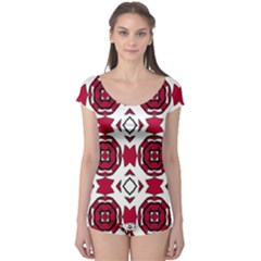 Seamless Abstract Pattern With Red Elements Background Boyleg Leotard