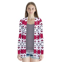 Seamless Abstract Pattern With Red Elements Background Cardigans