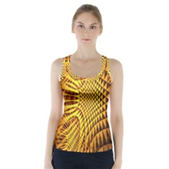 Patterned Wallpapers Racer Back Sports Top